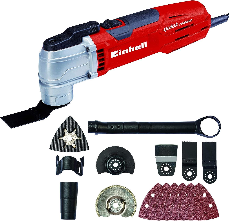 Einhell Outil multifonctions TE-MG 300 EQ 300 W, Variateur /électronique, Verrouillage rapide, Livr/é en coffret avec accessoires