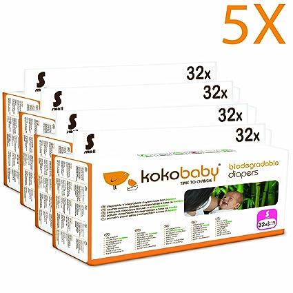 """Kokobaby pañales ecológicos de bambú sin cloro """"S"""". Talla 2 (3"""