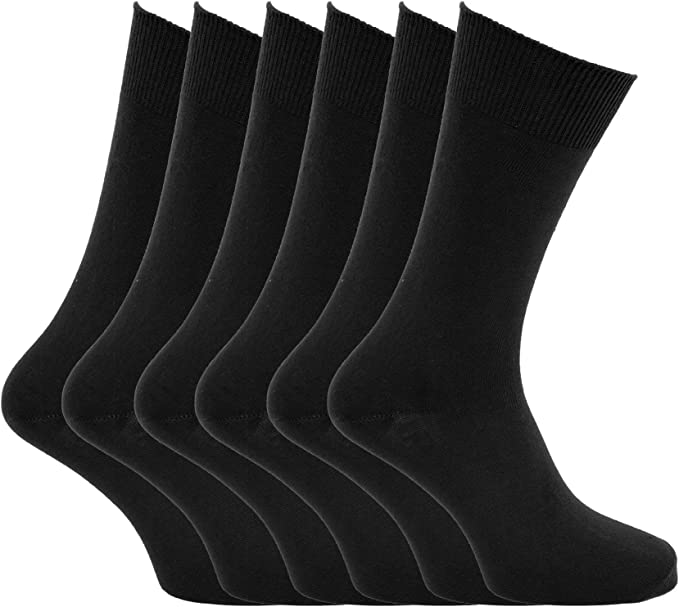 Hombre lisa 100% calcetines de algodón (Pack de 6) - algodón, Claro Variados, 100% algodón, hombre, Mens 6-11: Amazon.es: Ropa y accesorios