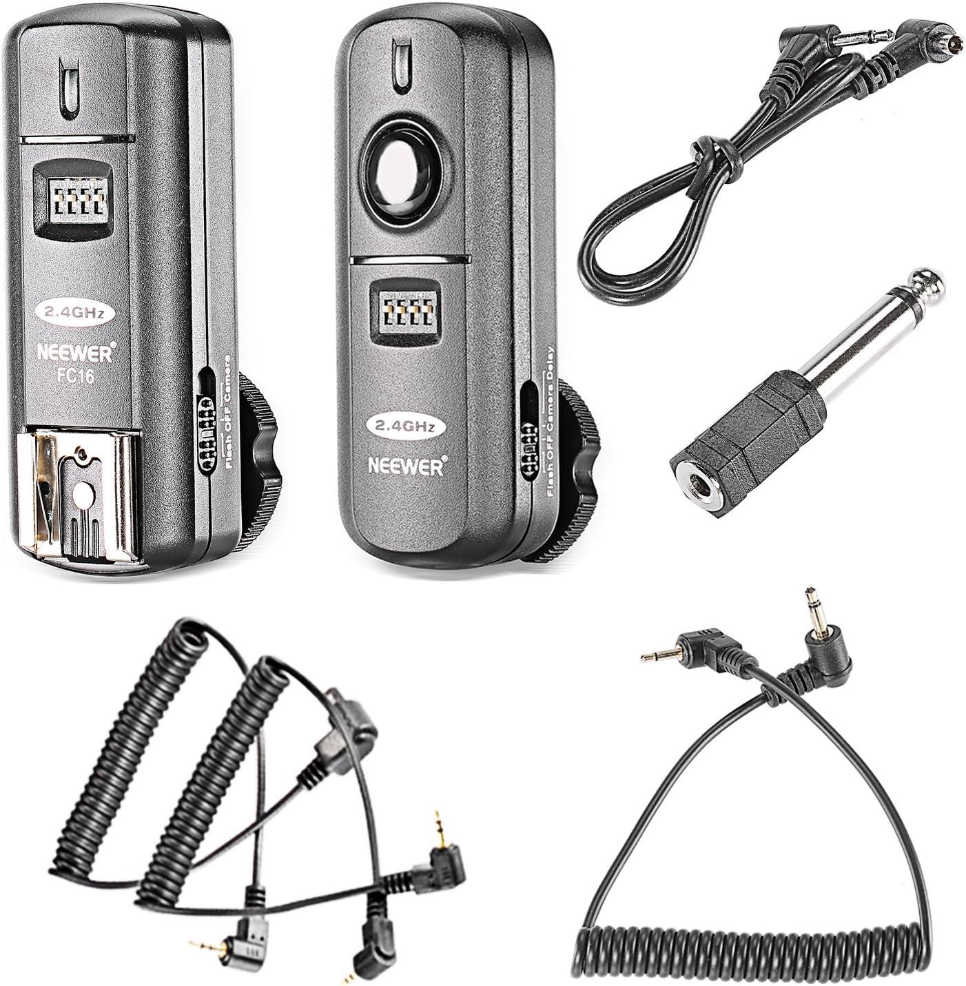 Neewer FC de 16multicanal 2.4GHz 3en 1Flash/Studio Disparador con flash inalámbrico disparador remoto para Canon Rebel T3XS T4i T3i T2i T1i XSi EOS 1100d 1000d 700d 650d 600d 60d 550d 500d 450d 1