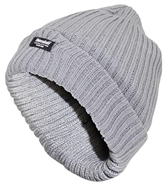 New Mens Thin Insulation Knitted Wooly Chunky Thermal Beanie Outdoor Winter  Ski Hat (One Size 16bb0859b029