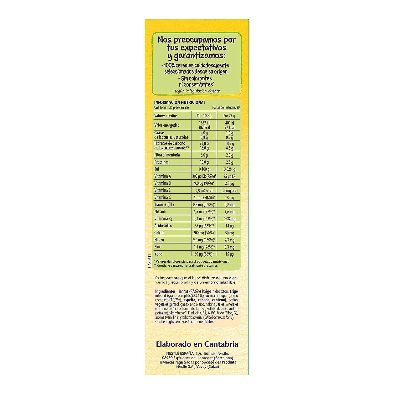 Nestlé - Multicereales - Papilla de cereales instantánea de fácil disolución - 500 g: Amazon.es: Alimentación y bebidas