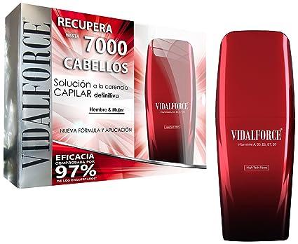 VidalForce Fibras Capilares Naturales Castaño Oscuro 40 gr Disimula la carencia capilar aumentando el grosor del