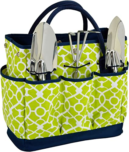 Picnic at Ascot Gardening Tote with 3 Stainless Steel Tools- Designed Assembled in the USA