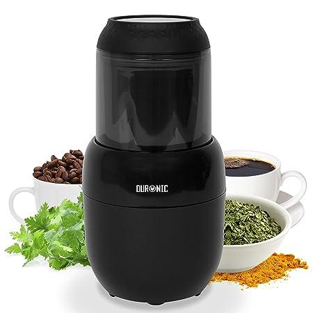 Duronic CG300 Molinillo de Café Eléctrico con Capacidad para 15 tazas (100 g), Cuchillas de Acero Inoxidable, 300W, Molinillo de Pimienta y otras ...