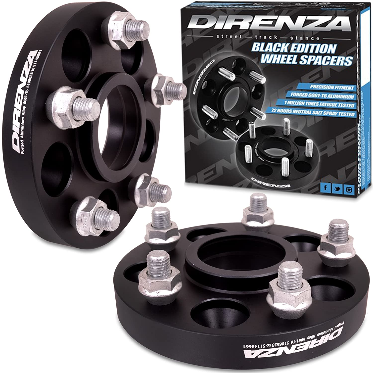 5x108 - 5x114.3 PCD Adapter 20mm Wheel Spacers Direnza