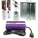 Apollo Horticulture GLK400LS24 400 Watt Grow Light Digital Dimmable HPS MH System for Plants Air Cool Hood Set