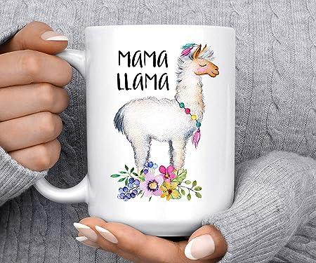 Regalo Compleanno Neo Mamma.Dozili Tazza Da Caffe Con Scritta Mama Llama Idea Regalo Per