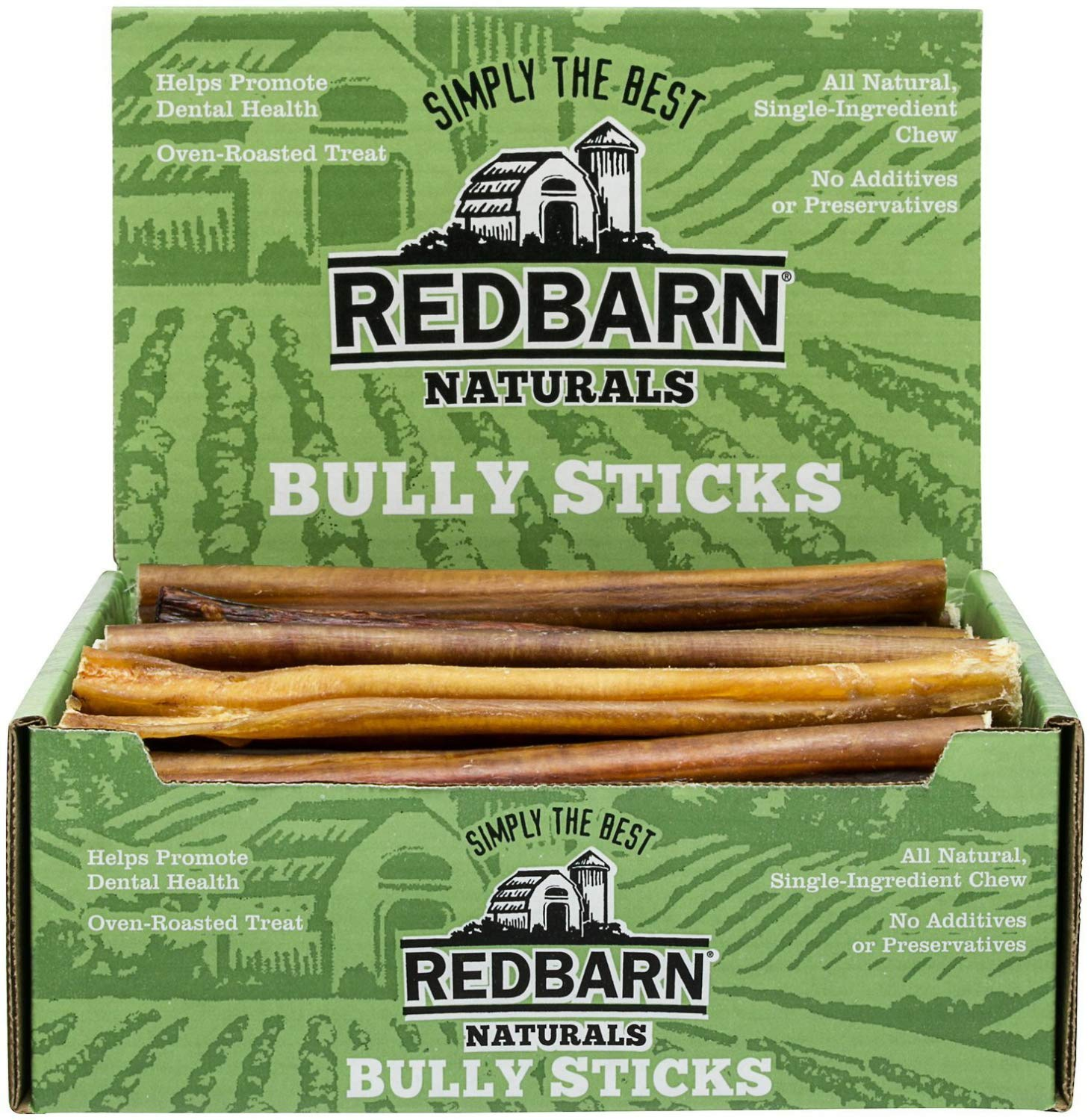 REDBARN NATURALS 209001 9'' Bully Stick Pet Chew Treat (50 Case), One Size