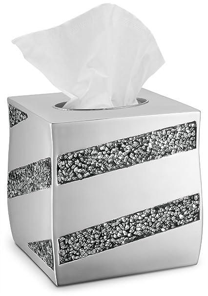 amazon com dwellza tissue box cover square decorative bathroom