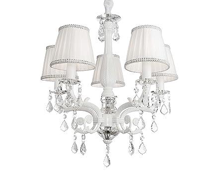 Firefly kids lighting victoria 5 light crystal chandelier white 5 light