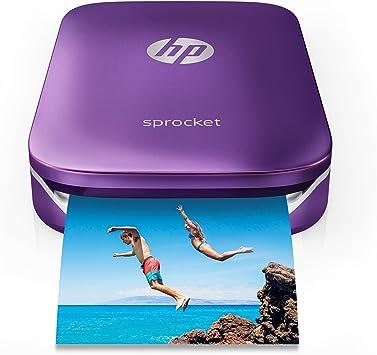 HP Sprocket Portable Photo Printer, Print Social Media Photos on 2x3 Sticky-Backed Paper - Purple (Z9L25A)