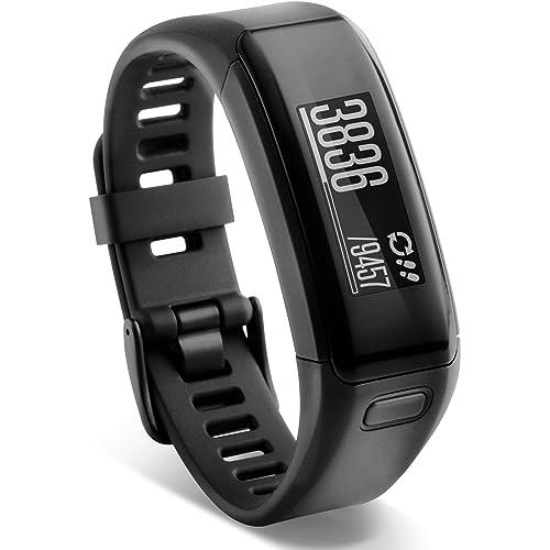 Garmin Vivosmart HR - Bracelet d'Activité avec Cardio Poignet - Taille Regular - Noir
