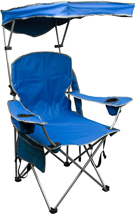 Quik Shade Adjustable Canopy Folding C& Chair - Royal Blue  sc 1 st  Amazon.com & Amazon.com : Quik Shade Adjustable Canopy Folding Camp Chair ...