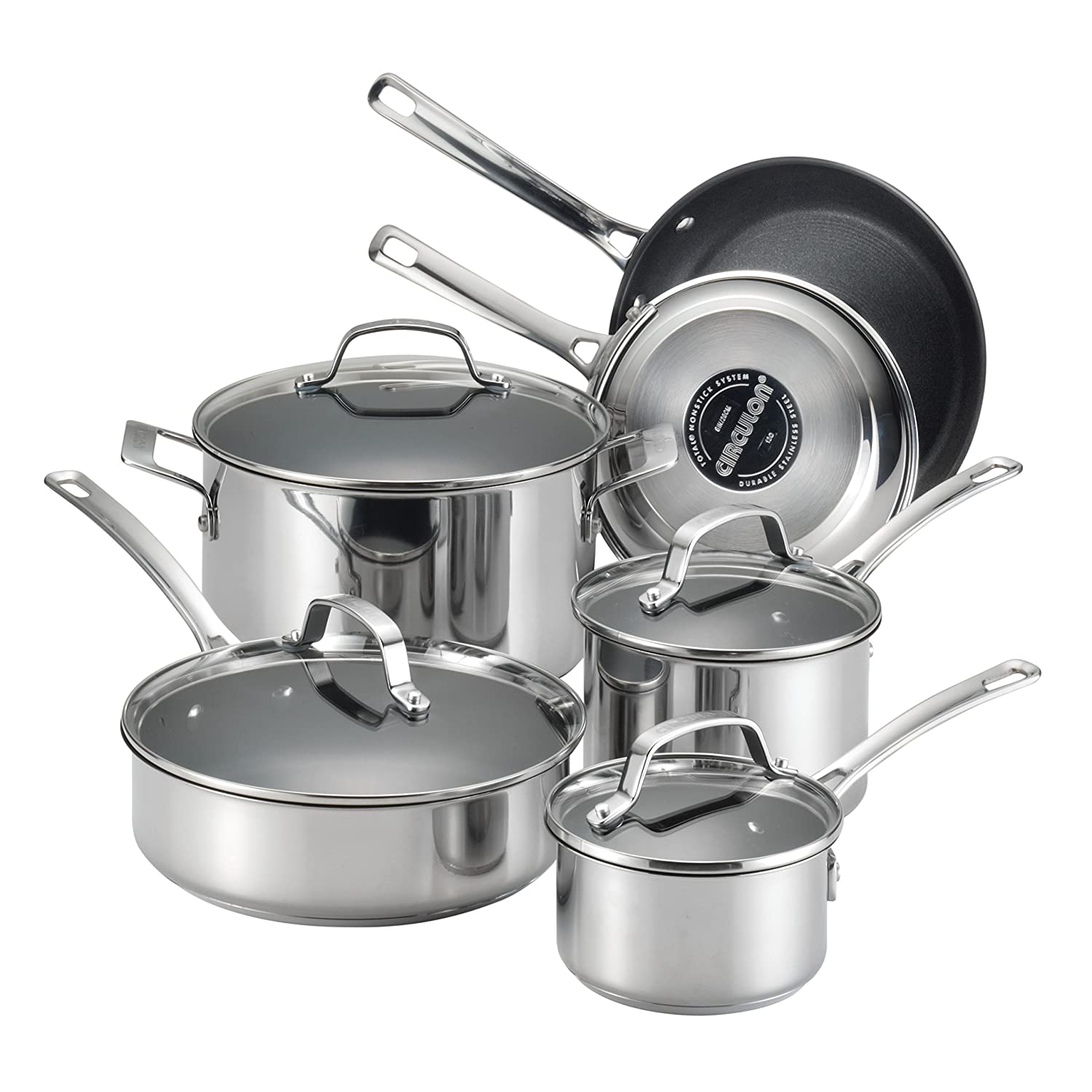 Circulon Genesis Stainless Steel Nonstick 10-Piece Cookware Set Meyer 77881