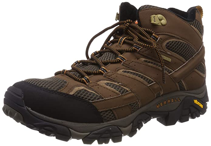 Merrell Men's Moab 2 Mid Gtx Hiking Boot  best lightweight hiking shoes
