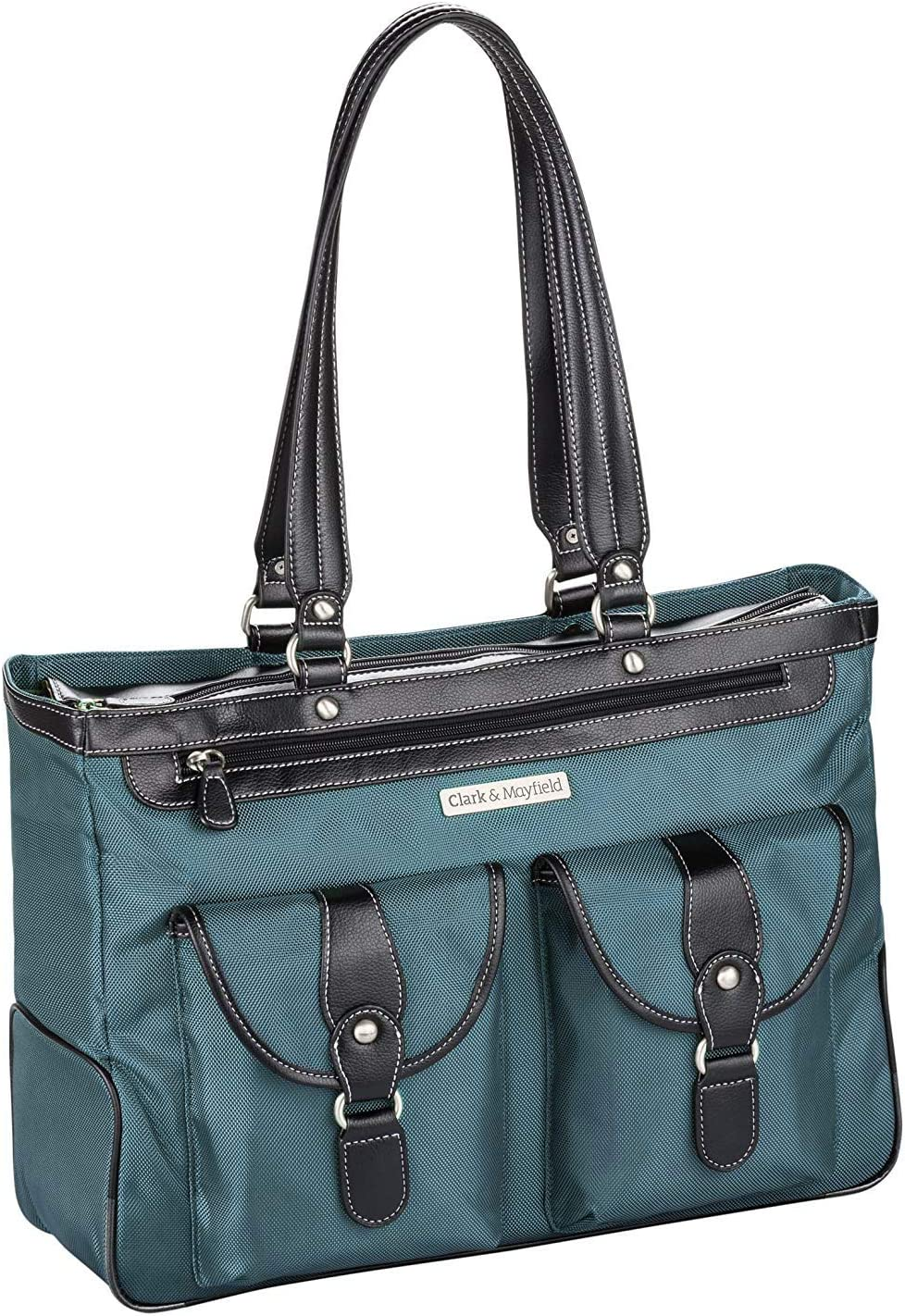 "Clark & Mayfield Marquam Metro Laptop Handbag 18.4"" (Deep Teal)"