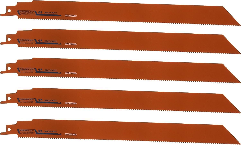 Bahco 3840-300-10-HST-5P Bimetall-S/äbels/ägeblatt Sandflex 300mm 10 ZpZ HST 5 St/ück