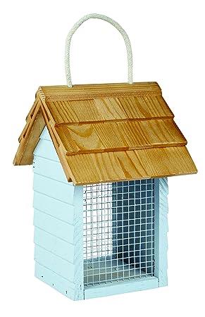Gardman a04335 cacahuetes para pájaros, diseño de caseta de playa, color verde/azul: Amazon.es: Jardín