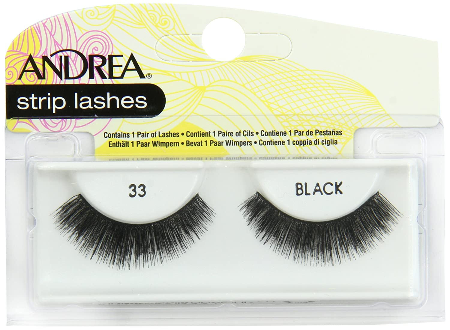 a9a56baf2e0 Amazon.com : Andrea Strip Lashes, Black [33] 1 pair (Pack of 4) : Fake  Eyelashes And Adhesives : Beauty