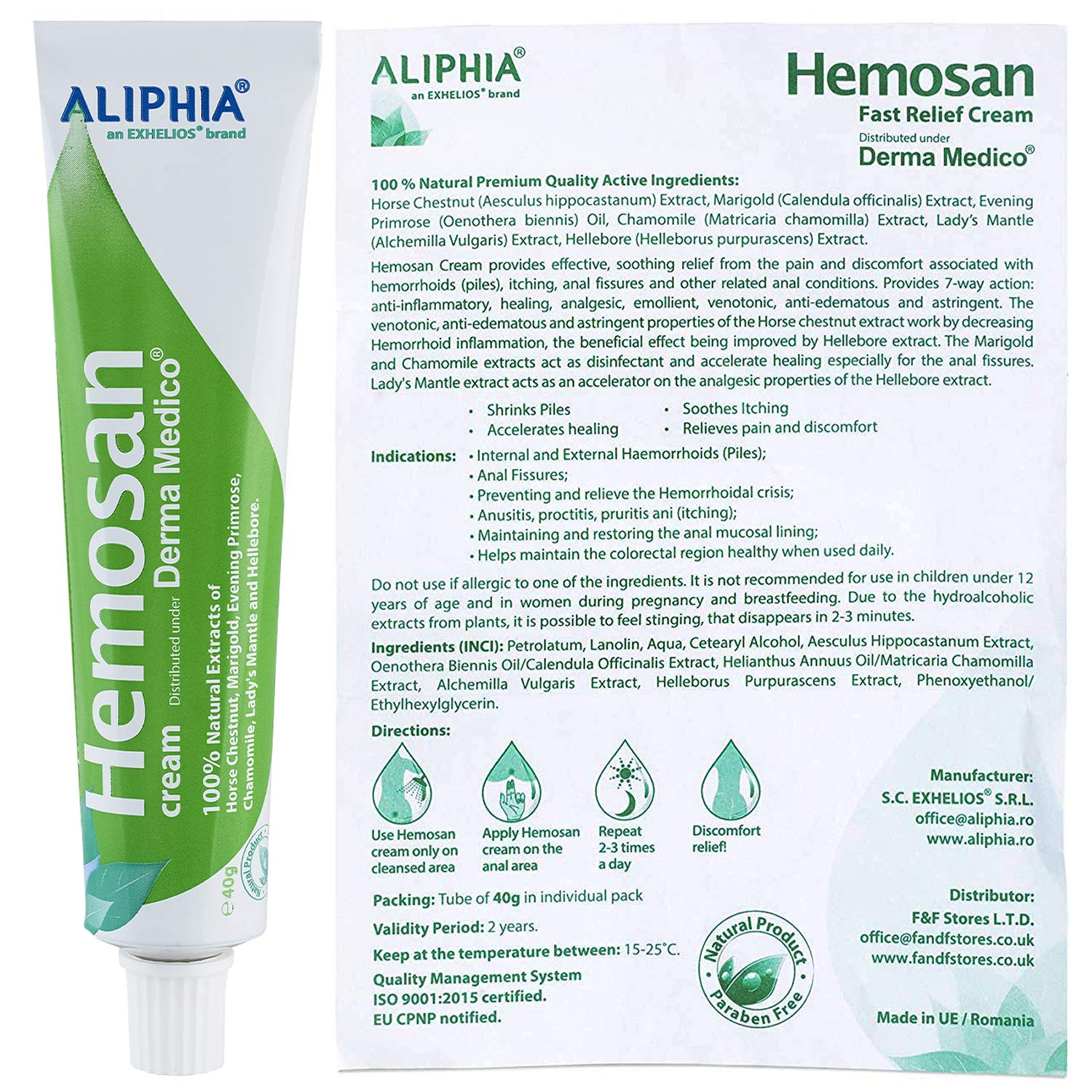 Fast Relief Cream Anal Fissures, Hemorrhoids , Anal Eczemas ,Pruritus Ani -  100% Natural Plant Extracts Piles Oinment - 100% Satisfaction Guaranteed ...