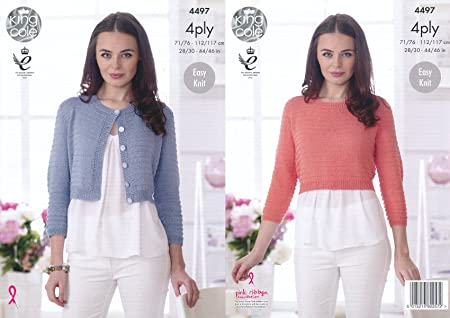 33adfd550 Image Unavailable. Image not available for. Colour  King Cole Ladies Easy  Knit 4 Ply Knitting Pattern ...