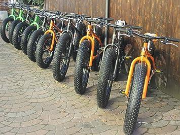 Bicicletas arena y nieve MBM FAT MACHINE para Niños (Matt Black/Neon Red,