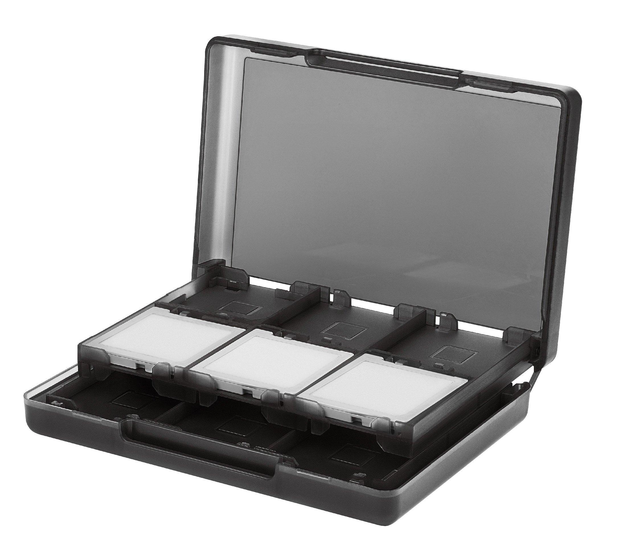 Amazon Basics Nintendo 3DS Game Card Storage Case Holder with 24 Cartridge Slots - 3 x 5 x 1 Inches, Black