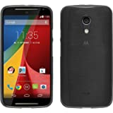 PhoneNatic - Custodia in Silicone per Motorola Moto G 2014 2. Generation - brushed argento