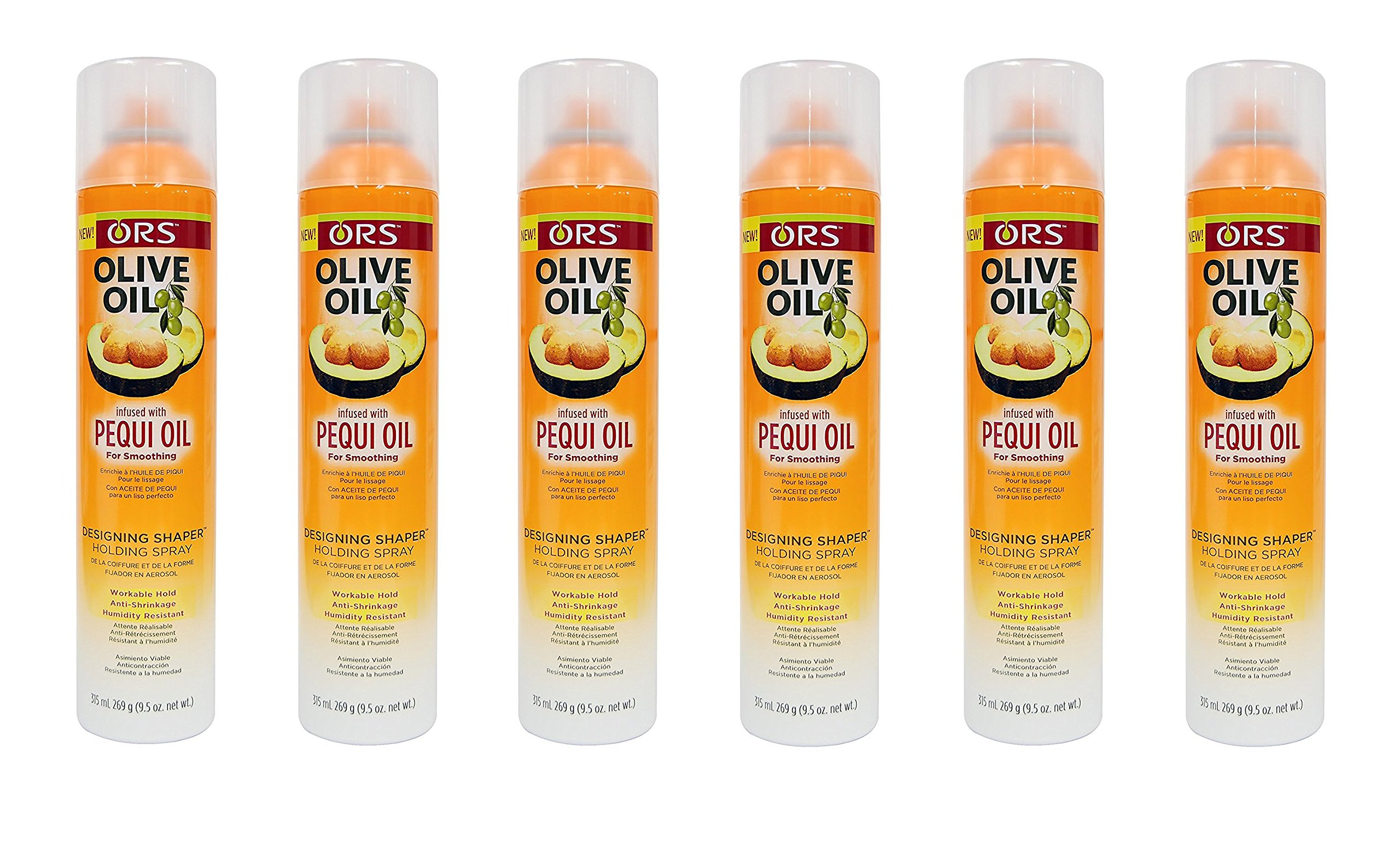(PACK OF 6) ORS Olive Oil Pequi Oil Designing Shaper Holding Spray 9.5oz