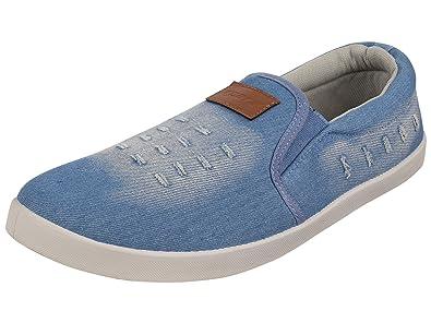 Sparx Mens Sky Blue White Colour Sm278 Series Canvas Casual Shoes