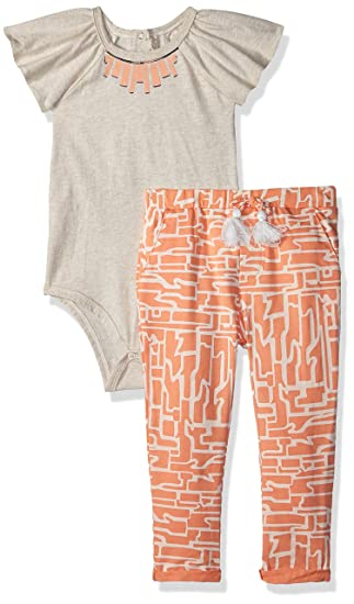 Amazon Com Jessica Simpson Baby Girls Fashion Top And Pant Set