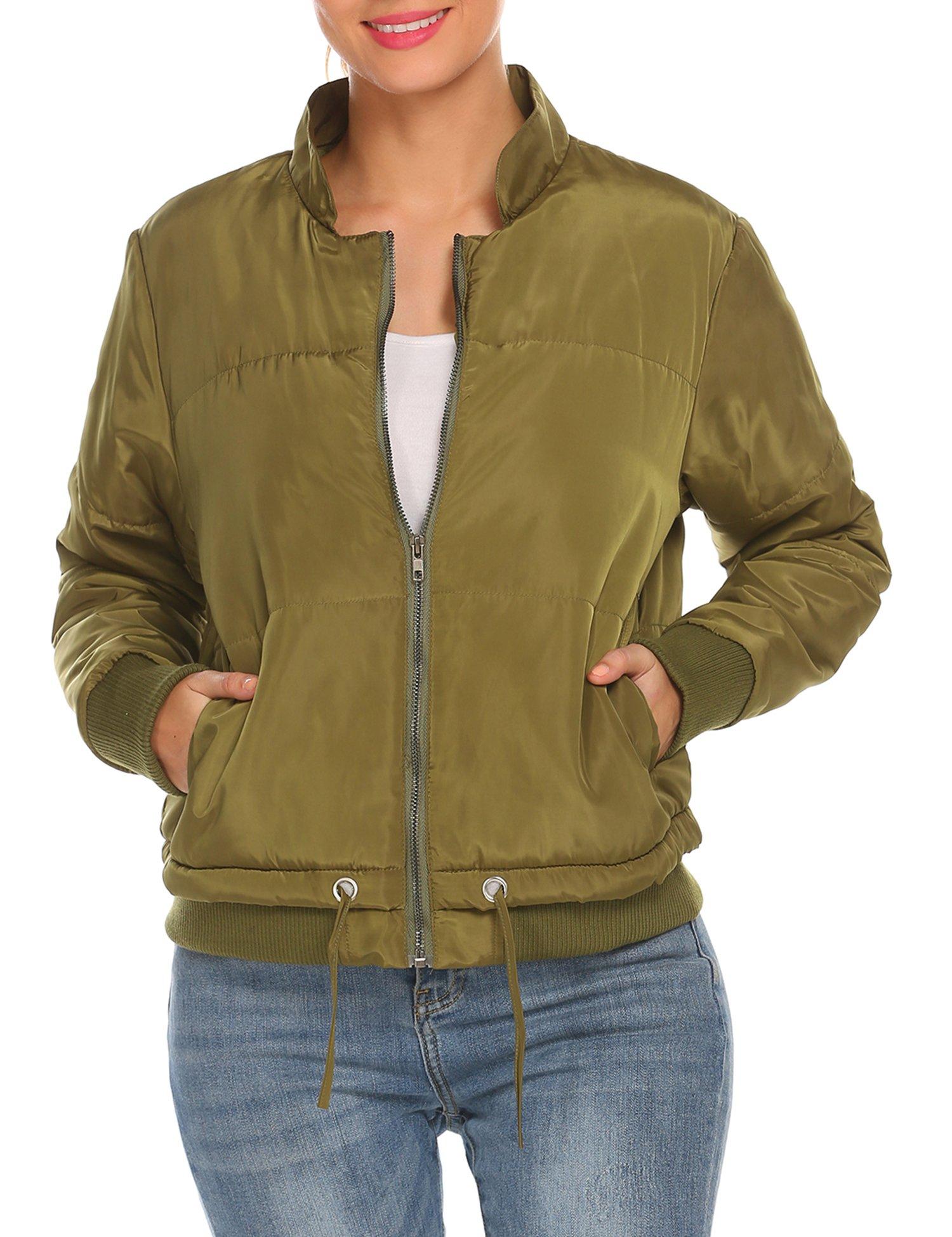 SE MIU Women's Lightweight Packable Down Jacket Outwear Puffer Down Coats