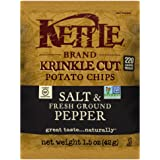 Kettle Brand Krinkle Cut Potato Chips, Salt and Fresh Ground Pepper, 1.5-Ounce Bags (Pack of 24)