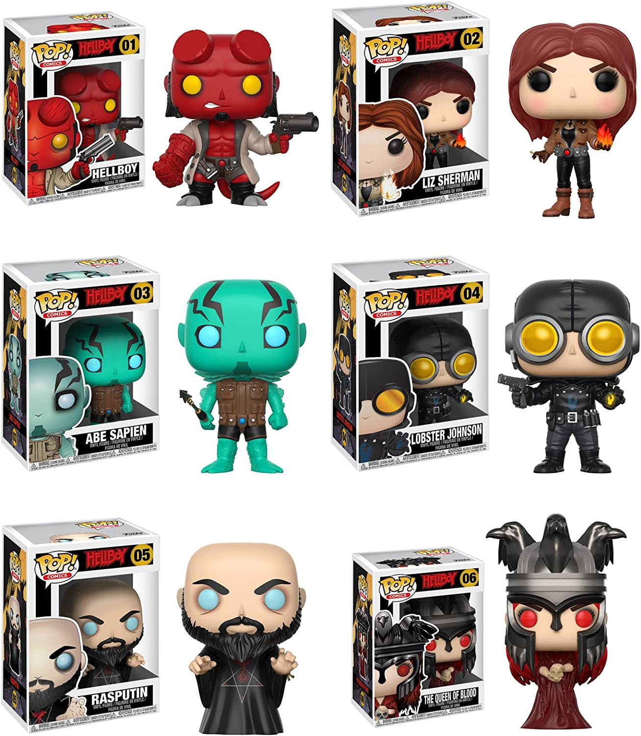 Funko 9 cm Pop Vinile Hellboy Lobster Johnson 23343