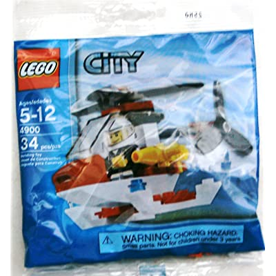 LEGO City Mini Figure Set 4900 Fire Helicopter - Bagged (34 pieces): Toys & Games
