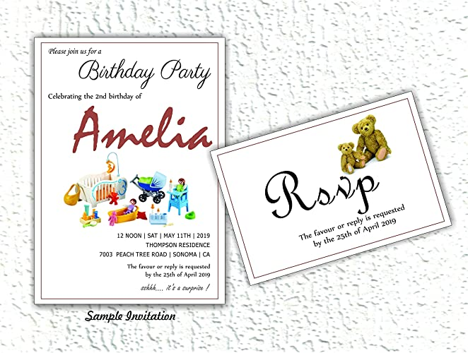 Amazon Com Baby Toy Birthday Invitation With Envelopes