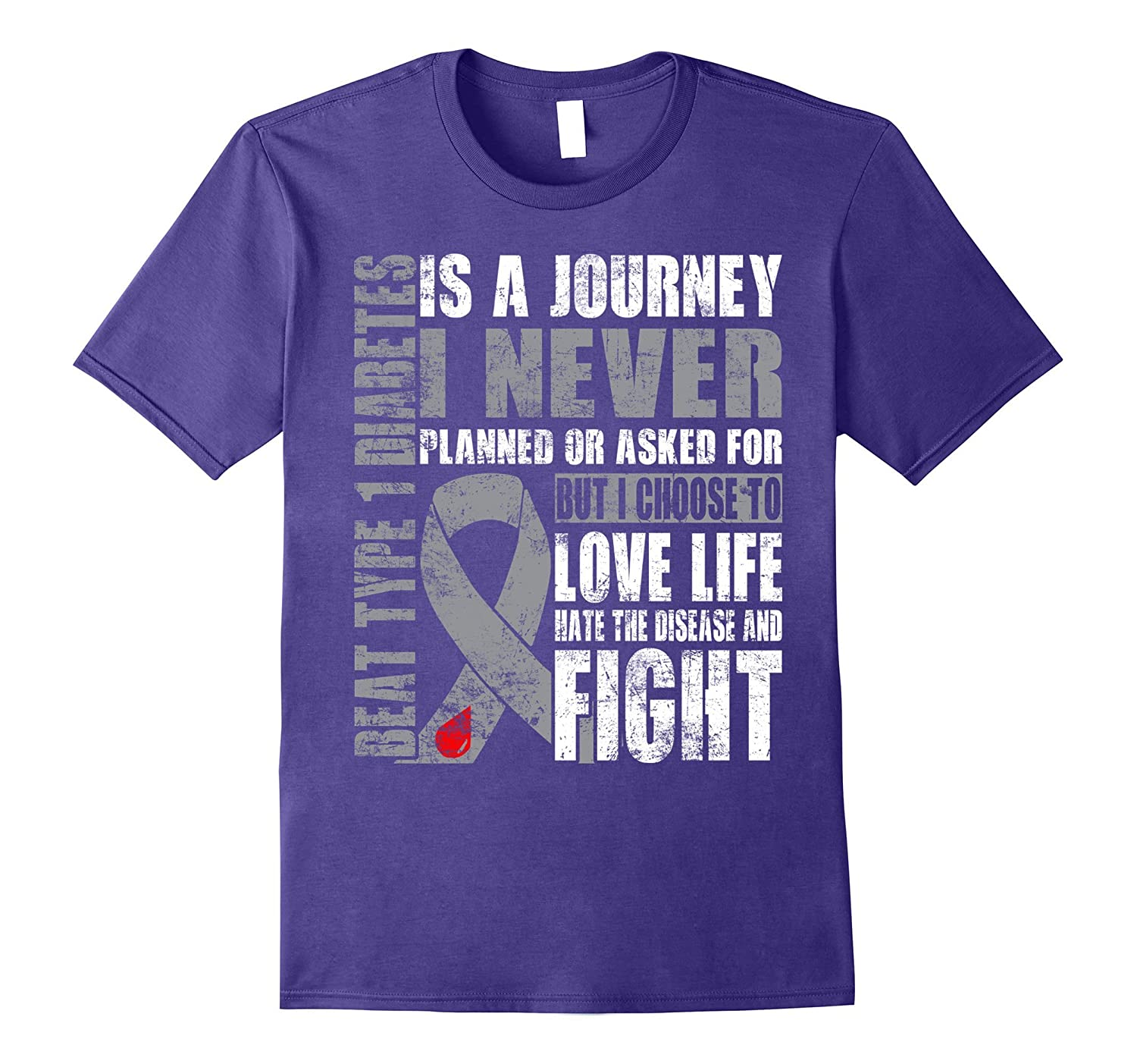 Beat Type 1 Diabetes is a journey i choose fight t shirt ...