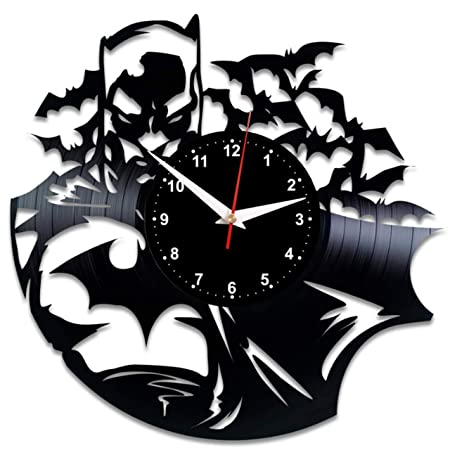 EVEVO Reloj de Pared de Batman de Vinilo, diseño Vintage de ...