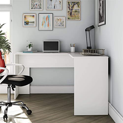 Ameriwood Home Works L, White Desk