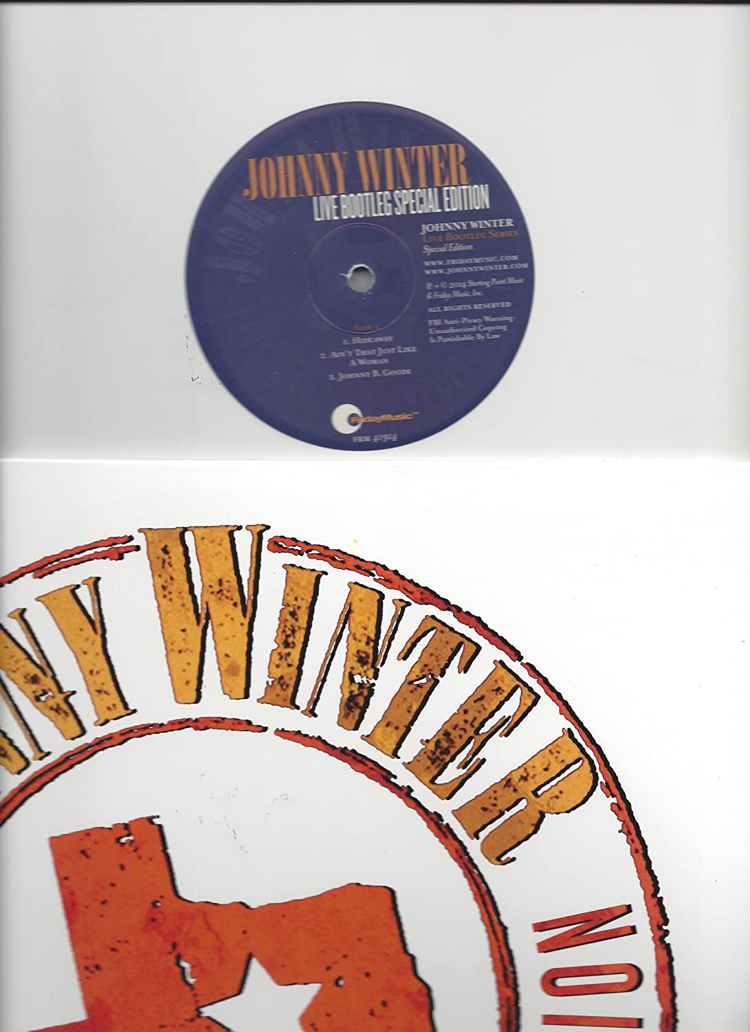 Johnny Winter Live Bootleg Series Vinyl Record Album LP 2014 Record Store  Day Only 1000