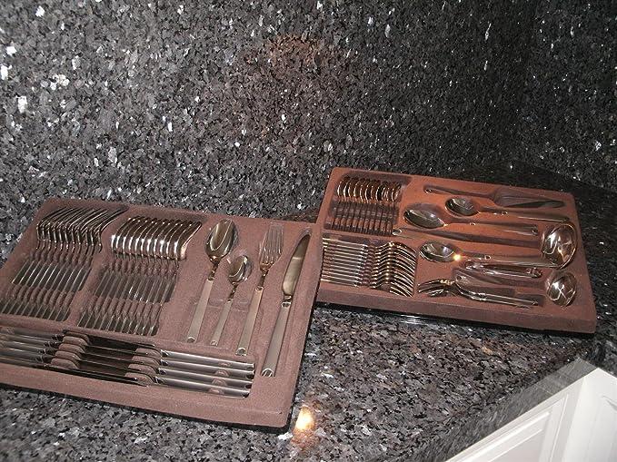 Juego de cubiertos SWISSAMC 72 piezas Garantía de Christofle Cutco cubiertos de acero inoxidable: Amazon.es: Hogar