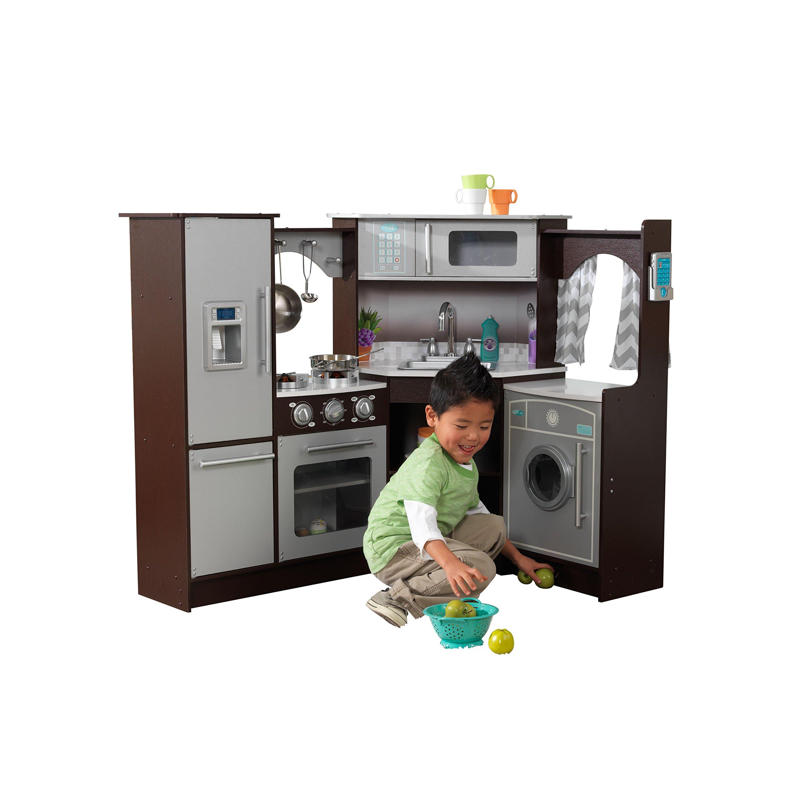 KidKraft Ultimate Corner Play Kitchen with Lights & Sounds, Espresso by KidKraft