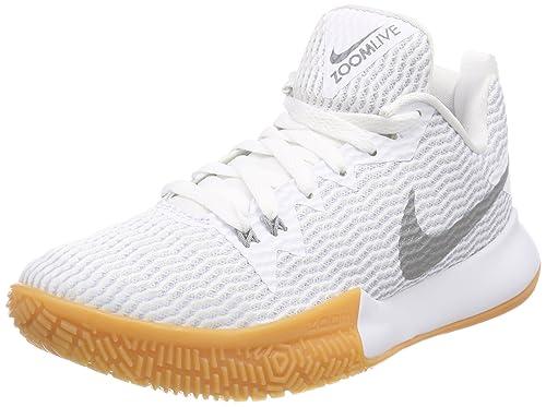 Nike Zoom Live II, Zapatos de Baloncesto para Mujer, Blanco (White ...