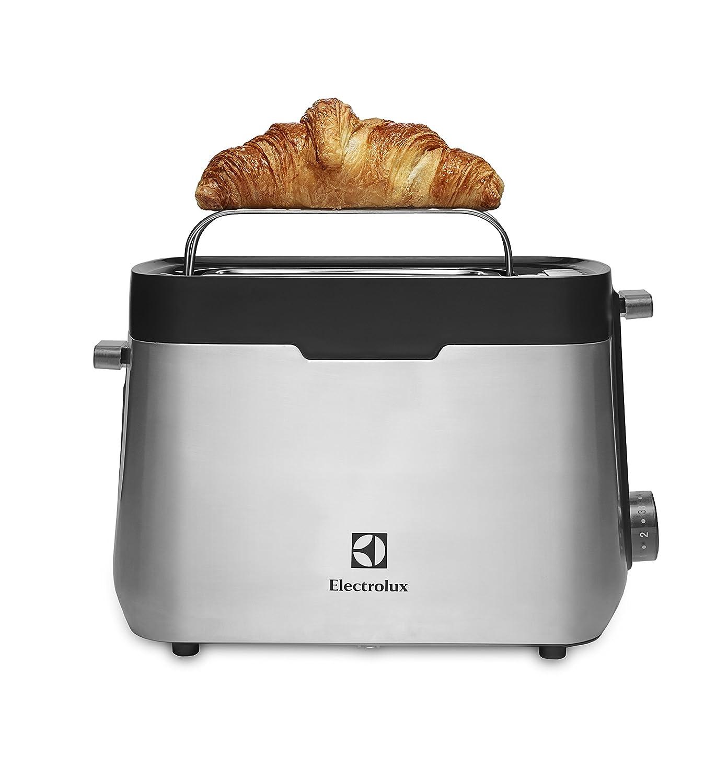 Electrolux EAT5300 - Tostador de doble ranura y calentador de pan y bollería, acabado en acero inoxidable: Amazon.es: Hogar