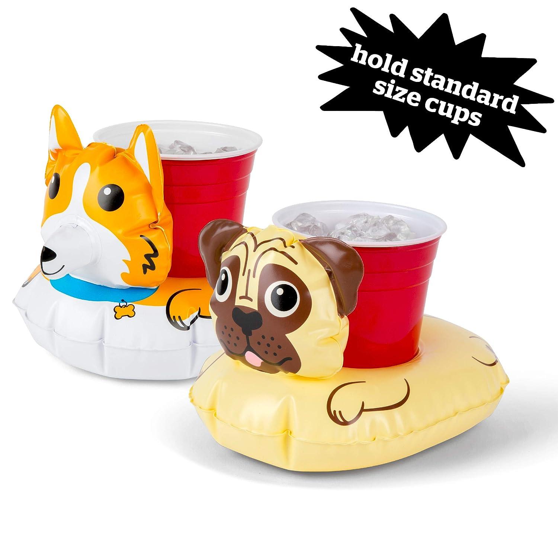 Corgi and Pug Beverage Floats for Pool