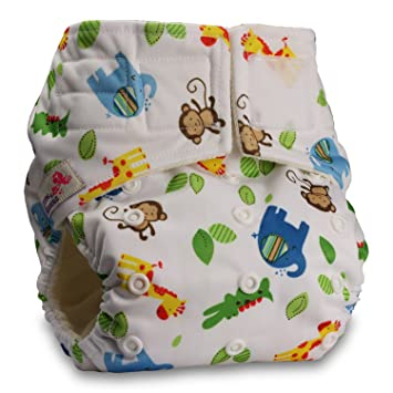 Fastener: Hook-Loop Without Insert Pattern 47 Baby Cloth Washable Reusable Nappy Pocket Diaper Bamboo Littles /& Bloomz