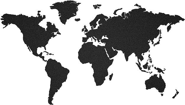 Schwarz Kork Weltkarte Pinnwand