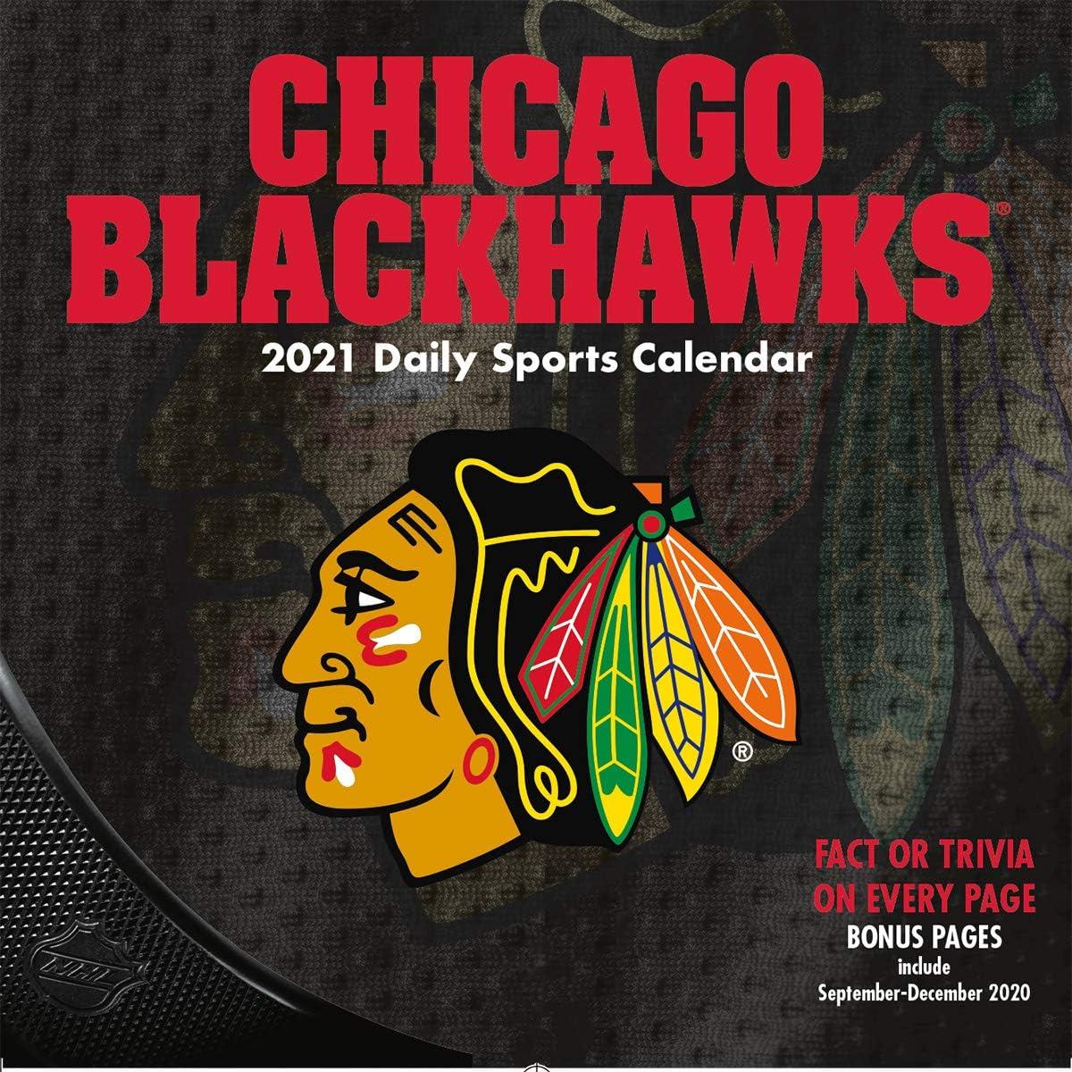 TURNER Sports Chicago Blackhawks 2021 Box Calendar 21998051460