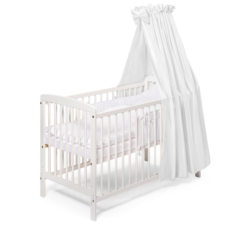 Holz Beistellbett 120x60 weiss KOKO- Babybett Gitterbett |JULIA